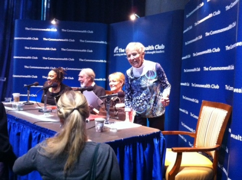 """At the Commonwealth Club's """"Women at Risk"""" panel"""