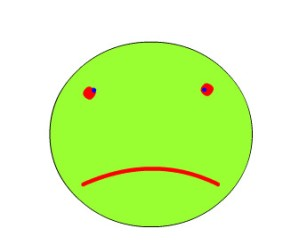 frowny face