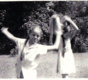 The author and sister Mimi, circa 1940