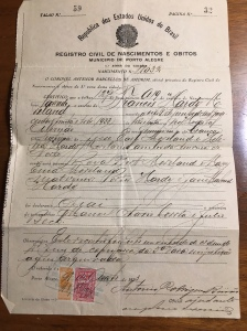 Birth Certificate - Portugese