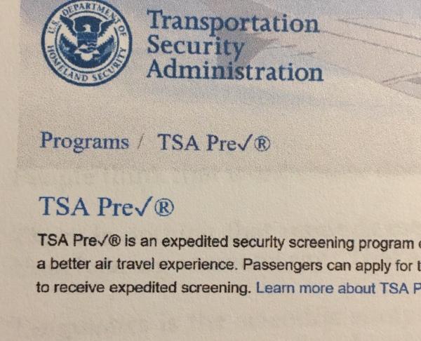 Security - TSA pre